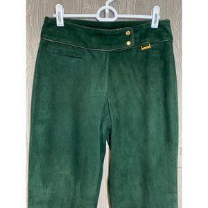 Ralph Lauren Black Label Green Suede Pants 2 NWT